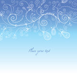 Blue wintry background. With place for your text Stock Photo