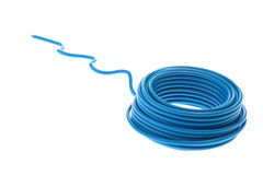 Blue wire Stock Image