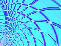 Blue wire. Tech abstract background texture with blue spiral wire Royalty Free Stock Images