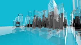 Blue Wireframe movemen Architecture Creativity Concepts Royalty Free Stock Photos