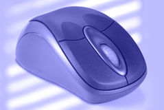 Blue Wireless Computer Mouse Royalty Free Stock Images
