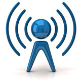 Blue wireless icon Royalty Free Stock Photography