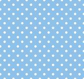 Blue With White Polka Dots Royalty Free Stock Photo