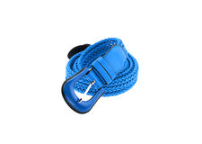 Blue woman crochet belt isolated on white background Royalty Free Stock Image