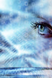 Blue woman eye Stock Photography