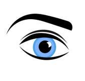 Blue woman eye. Vector illustration Royalty Free Stock Photos