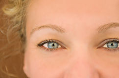 Blue woman's eyes. Royalty Free Stock Photos