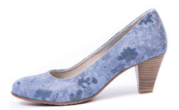 Blue woman shoe Royalty Free Stock Image