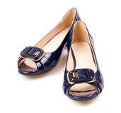 Blue woman shoes Royalty Free Stock Photo