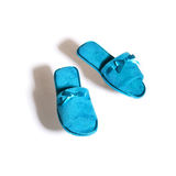Blue woman slippers Royalty Free Stock Images