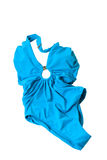 Blue woman swimming suit isolated Royalty Free Stock Photography