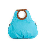 Blue women bag Royalty Free Stock Images