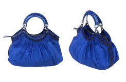Blue women bag Royalty Free Stock Photography