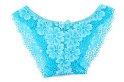 Blue women's panties Royalty Free Stock Photos