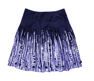 Blue women skirt Stock Photography