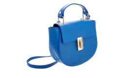 Blue womens bag  on white background. Stock Photography