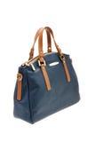 Blue womens bag  on white background. Stock Image