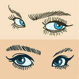 Blue womens eyes Royalty Free Stock Image