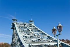 Blue Wonder Bridge Stock Photography