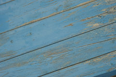 Blue wood. Painted blu wooden background, diagonal Royalty Free Stock Images