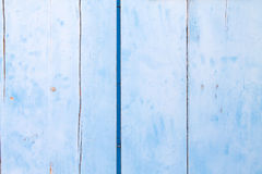 Blue wood background. Stock Photo