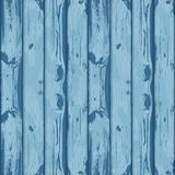 Blue wood background. Old boards background. Drawing. Vector ilu Stock Image