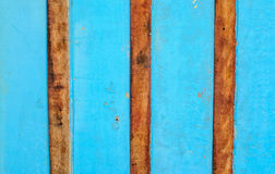 Blue wood with brown wood background Stock Photos