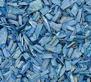 Blue wood chips background Stock Photo