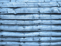 Blue wood fence panel Royalty Free Stock Photography