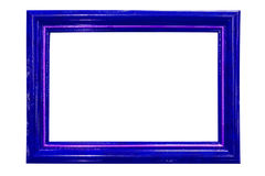 Blue wood frame isolated on white. The Blue wood frame isolated on white Royalty Free Stock Images