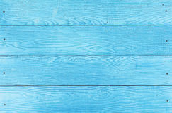 Blue wood panel Stock Photo