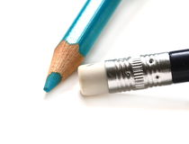Blue wood pencil Royalty Free Stock Photo