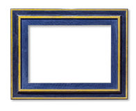 Blue wood picture frame Royalty Free Stock Images