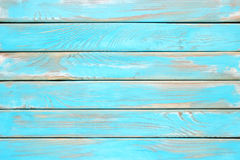 Blue wood planks, a shabby wooden surface of the kitchen table. Antique wooden board. Shield of blue wood Stock Image