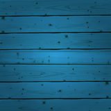 Blue wood planks texture. Vector illustration Royalty Free Stock Photo