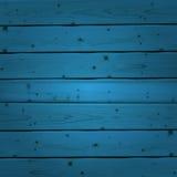 Blue wood planks texture. Vector illustration Royalty Free Stock Photo