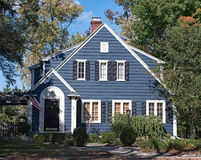 Blue Wood Sided House Royalty Free Stock Photos