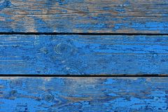 Blue wood table or wood board. Stock Image
