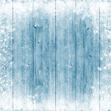 Blue wood texture. Ice and snow. Christmas background. Royalty Free Stock Photos