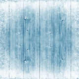 Blue wood texture. Ice and snow. Christmas background. Stock Photography