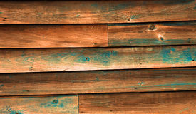 Blue Wood Texture. Rustic, weathered wood siding with left over blue paint Royalty Free Stock Photo