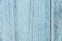 Blue wood texture with snow christmas background Stock Image