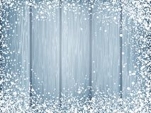 Blue wood texture with white snow. EPS 10 Royalty Free Stock Photography