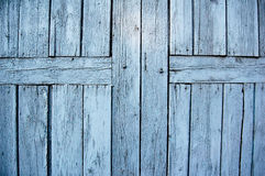 Blue wood wall. Bakcground photo Stock Photo