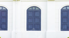 Blue wood window classic style. It beautiful Royalty Free Stock Photography