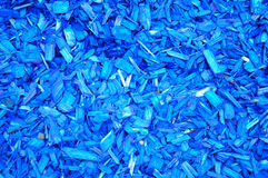 Blue woodchips Stock Photos