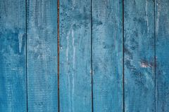 Blue wooden background from boards Royalty Free Stock Images