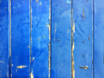Blue wooden background. With peeling paint which can be used as a background for text Royalty Free Stock Images