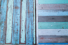 Blue wooden background of table top Royalty Free Stock Images