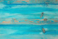 Blue wooden beach planks, empty background for copy space, top view royalty free stock photo